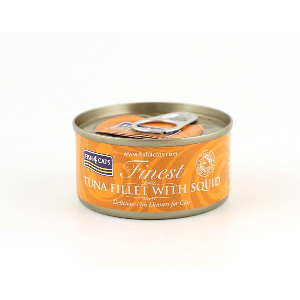 Finest Fish4Cats Tonijnfilet met Inktvis