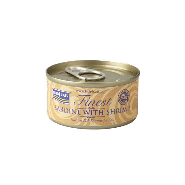 Finest Fish4Cats Sardine met Garnaal